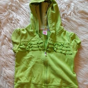Carter's green hoodie like new size 24 months